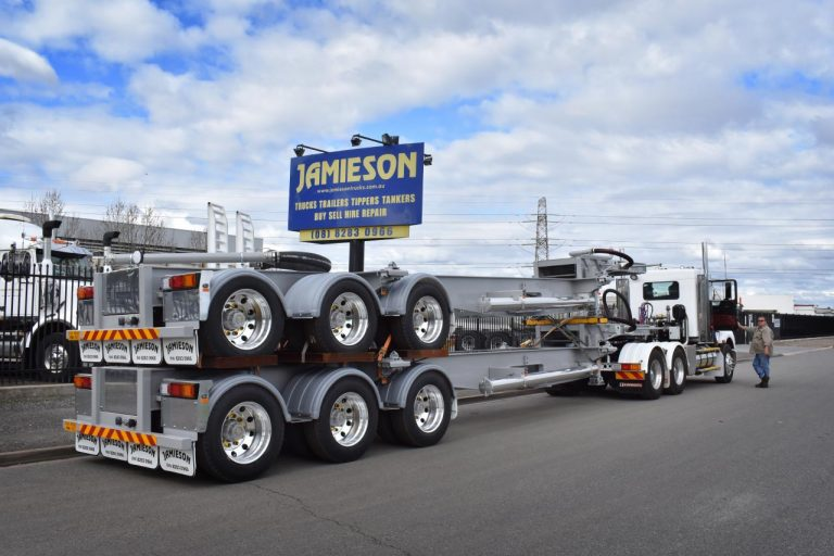 Jamieson Dropdeck Skel (Suit ISO Tanker) - Jamieson Trucks - Rear Side View