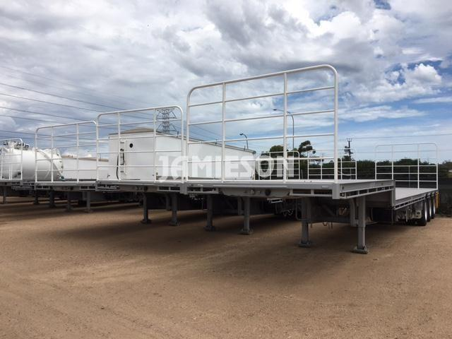 Dropdeck Tri Axle Semi Trailer - Stock