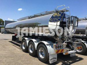 30,000 Litre Bitumen Tri Axle Tanker - Jamieson Trucks - Rear Side View