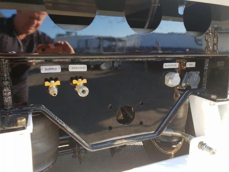 Hardox Quarry Tri Axle Rear Chassis Semi Tipper – 9.6m