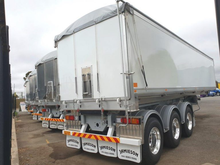 Aluminium Grain Tri Axle Road Train Rear Chassis Tipper – 33′