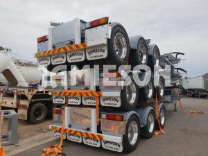 Tri Axle Drop Deck Skel Container Pins - Stock View 3