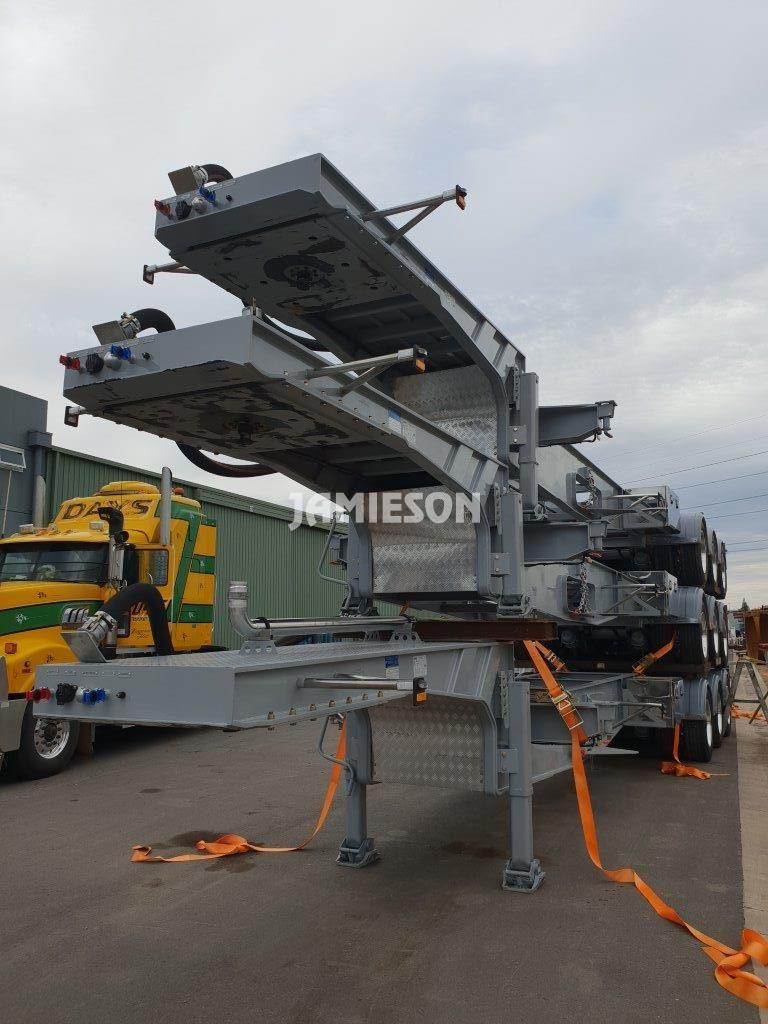 Tri Axle Drop Deck Skel Container Pins - Stock View 2