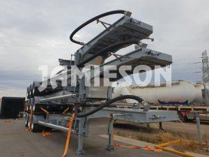 Tri Axle Drop Deck Skel Container Pins - Stock View