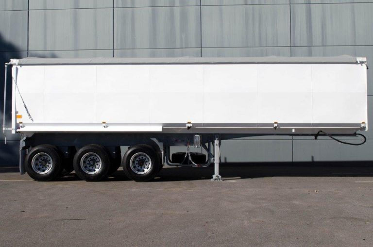 Steel Tri Axle Semi Tipper - Grain Fertiliser - Side View