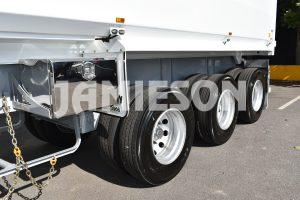 Hardox Quarry Tri Axle Semi Tipper - Front View
