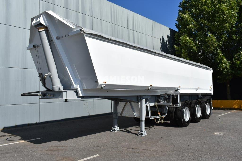 Hardox Quarry Tri Axle Semi Tipper - Front Side View