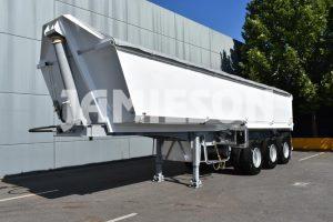 Hardox Quarry Tri Axle Semi Tipper - Front Side View