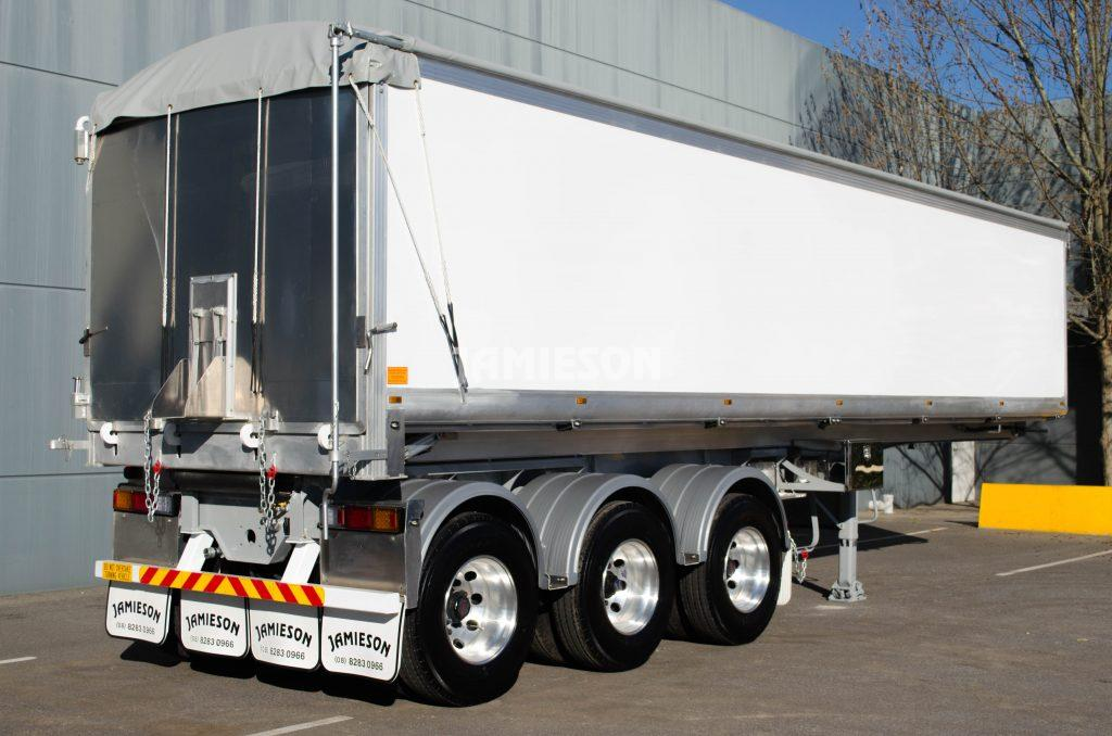 Aluminium Tri Axle Semi Tipper - 10.1m - Rear Side View 2