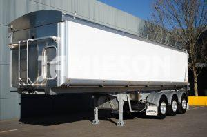 Aluminium Tri Axle Semi Tipper - 10.1m - Front Side View