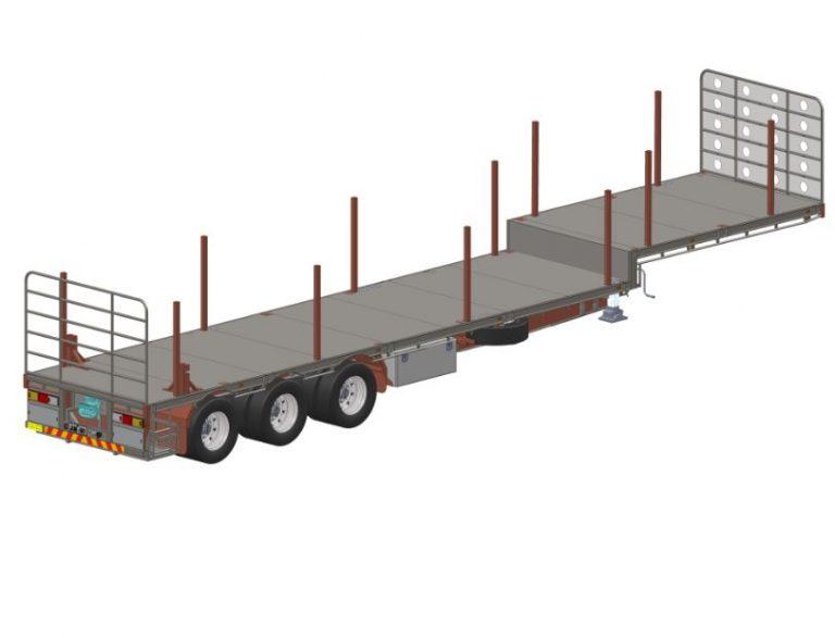 Drop Deck – Road Train – Tri Axle Semi Trailer 45′ 13.7m