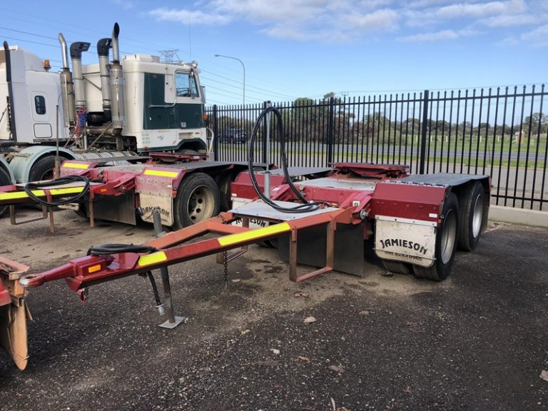 Tandem Axle Road Train Dolly - Jamieson Trucks - Front Side View 3