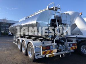30,000 Litre Bitumen Tri Axle Tanker - Jamieson Trucks - Rear Side View 3