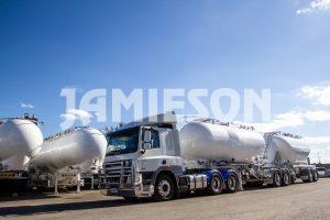 Jamieson Steel Pneumatic Tandem Tanker B-Double Combination