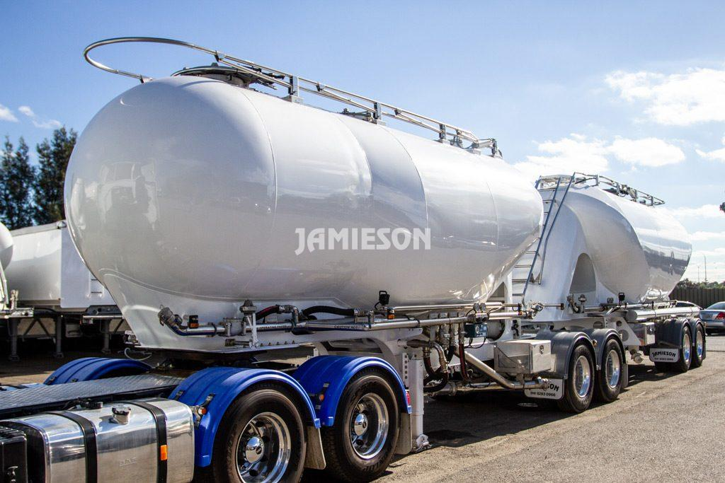 Pneumatic Tanker - Tandem Axle - Lightweight Steel - B-Double Combination - 24/25m3