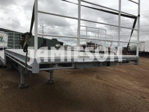 Dropdeck Tri Axle Semi Trailer - Front Side View