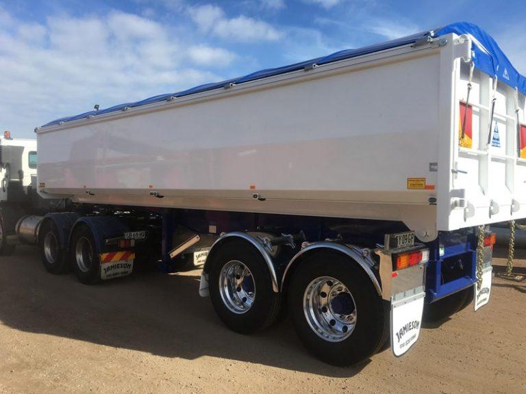 Hardox Metro Tandem Axle Tipper - 7.3m - Jamieson Trucks - Front Side View 3