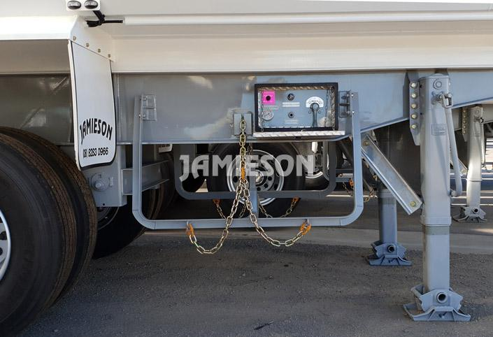 Hardox Quarry Tri Axle Semi Tipper - Front View