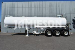 Water Remote Control Tri-axle Semi Tanker - 28kL - Side View