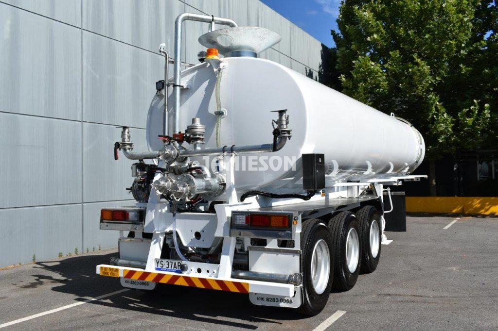 Jamieson Ultra Water Tanker Trailer Tri-Axle - Full Remote Control - 28kL