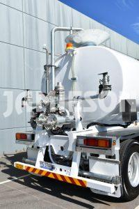 Water Remote Control Tri-axle Semi Tanker - 28kL - Rear Detail View