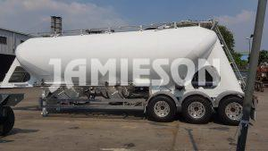 Pneumatic Food Grade Cement Tanker - Rear Side View 2