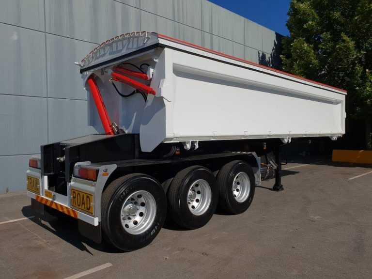 Hardox Side Tipper 8.5m - Rear Side View