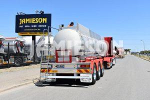 Chemical Stainless Steel Tri Axle Semi Tanker 19,600 Litre