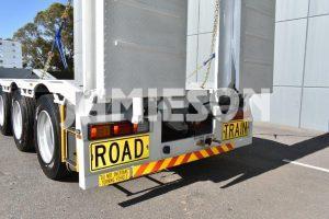 Drop Deck 45' - Bi-fold Rear Hydraulic Ramps - Front Ramps - Road Train - Semi - Tri Axle Trailer