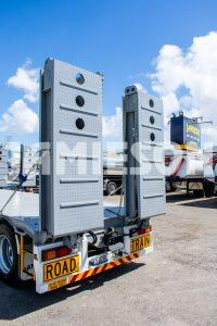 Drop Deck Trailer - Tri-Axle - With Beaver Tail & Bi-Fold Diesel Powered Hydraulic Ramps - Road Train Rated