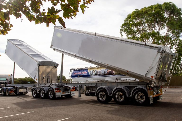 B-Double 30? Slider & 33? Tag Combination Aluminium Chassis Tippers