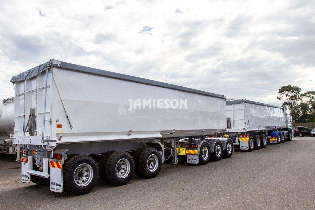 B-Double Steel Tipper Combination - Road Train