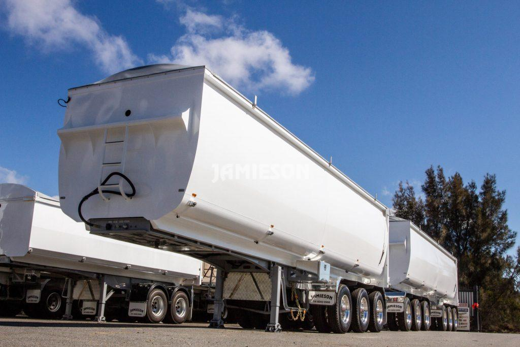 Ultra Light Steel Chassis Tipper Combination with Tri-Axle Dolly - Road Train
