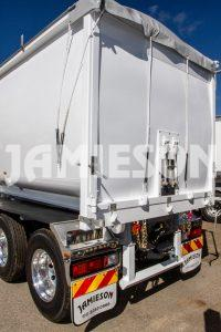 Steel Tipper Road Train Combination with Tri-Axle Dolly