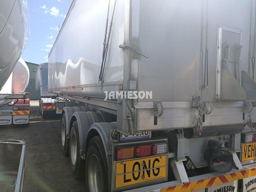Jamieson Aluminium Tri-Axle Road Train Rear Chassis Tipper - 33'