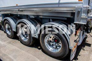 Jamieson Aluminium Tri-Axle Road Train Rated Rear Chassis Tipper - 9.8m