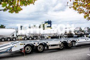 Jamieson Heavy Duty Low Loader / Widener Trailer With Bi-Fold Hydraulic Ramps - Quad-Axle
