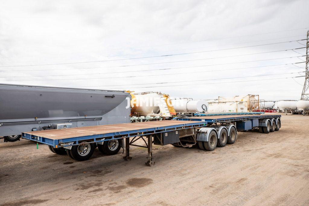 Flat Deck Trailer B-Double Combination - Southern Cross - 7.2m/12.3m Tri-Axle - Will Seperate