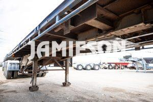 Flat deck trailer B-double combination, Southern Cross